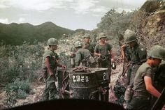 Soldiers of the South Korean White Horse Division in Vietnam.