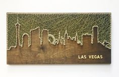 Las Vegas Skyline String Art Nevada Art Las Vegas Art