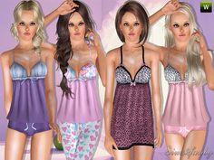 Sleepwear Set by Sims2fanbg  http://www.thesimsresource.com/downloads/1178048