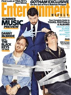 Patrick Carney of the Grammy-winning The Black Keys wearing Ray-Ban Wayfarer optical on the cover of the current issue of Entertainment Weekly.