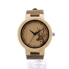 Top Brand BOBO BIRD Leather Strap Bamboo Watches 100% Handmade Men Wrist Watch relogio masculino as Gifts C-D14