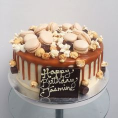 Salted Caramel Birthday Cake London - Anges de Sucre