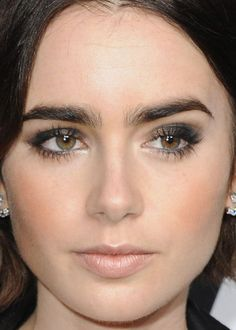 Image result for lily collins makeup