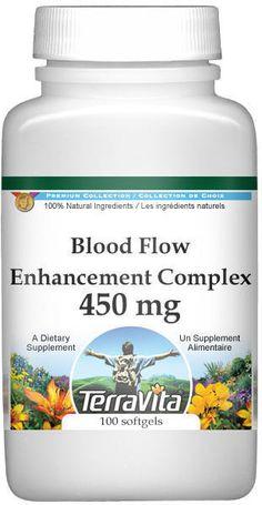 Blood Flow Enhancement Complex Vinpocetine, Primrose, Garlic and Mo...