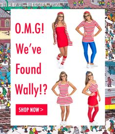 Wheres Wally Fancy Dress Costumes!! Create your look online at Girly Night Out! #HenParty #WheresWally xx