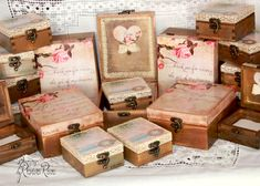 Decoupage personalised wooden boxes ! Handmade wooden boxes ! Wedding box  by ByRoxanaRusu, €30.00