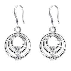 silver crystal earrings Hot Sell!!Wholesale Silver Plated Earring,Wedding Jewelry Accessories, Women Earrings  WE-491