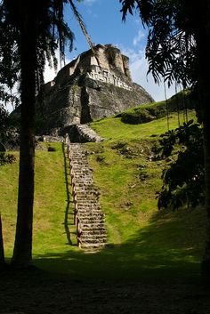 El Castillo mayan pyramid at Xunantunich - Belize
