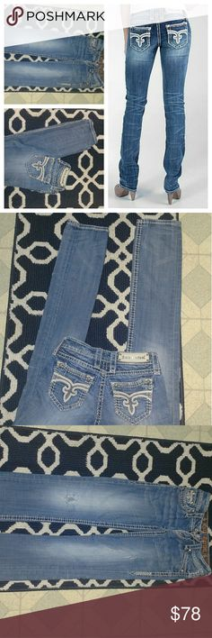 Rock Revival 24L zoey straight thick stitch jeans Rocks 24L Rock Revival Jeans Straight Leg