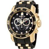 Invicta Men's 6981 Pro Diver Collection Chronograph Black Dial Black Polyurethane Watch (Watch)  #invicta Watches Collection