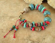 Boho Bracelet Bohemian Jewelry Turquoise Jewelry by BohoStyleMe