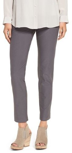 b6b8576d98 Eileen Fisher Stretch Crepe Ankle Pants (Regular & Petite) (Online Only)