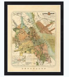 Old Map City Plan of Warsaw 1885 Poland by OldCityPrints on Etsy, $29.00