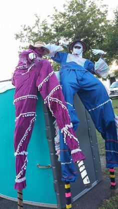 Real, live Moko Jumbies performed at a special occasion!