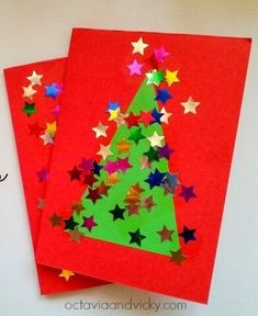 10 Easy Christmas Cards for Toddlers to Make 10 Easy, Last Minute Christmas Cards for Toddlers to Make<br> There's nothing as charming as a homemade card made by little hands! Try out these easy, last minute Christmas Cards for Toddlers to make and gift! Simple Christmas Cards, Christmas Card Crafts, Homemade Christmas Cards, Preschool Christmas, Christmas Cards To Make, Christmas Art, Handmade Christmas, Christmas Card Ideas With Kids, Christmas Crafts For Kids To Make Toddlers
