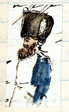 Queen Victoria's Drawings. A Belgian soldier. Something about this drawing is just so charming!