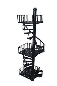 Display Shelves, Wall Shelves, Shelving, Stair Walls, Stairs, Fire Escape Shelf, Diy Corner Shelf, Art Studio Room, Wall Organization