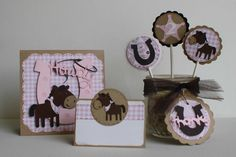 Cowgirl birthday invitations - horse and western theme, custom design, set of 12. $30.00, via Etsy.