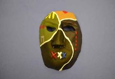 Face Behind the Mask: A mask created by a Veteran to express his PTSD. Ptsd, Trauma, Art Therapy Directives, Veterans Affairs, Expressive Art, Masks Art, Process Art, Military Art, Masking