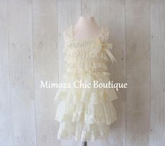 Rustic Flower Girl Dress Girl Lace Dress Country Lace Dress