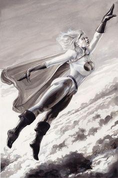Power Girl by J K Woodward Comic Art Fans