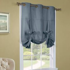 Weathermate tie up shades are a cotton faced, insulated, tie up panel. Each panel has six grommet rings and two ties for easy adjustments. Panels are cotton faced, insulated, easy-care and washable for added convenience. Tie Up Curtains, Panel Curtains, Balloon Curtains, Bedroom Curtains, Tie Up Shades, Home Cooler, Shades Blinds, Tied Up, Home Decor Outlet