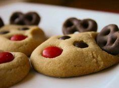 Reindeer Peanut Butter Cookies