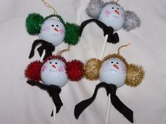 Golf Ball Snowman Ornament by threadedfromheaven on Etsy, $9.95