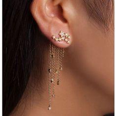 Falling star earring
