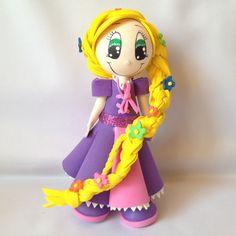 Princesa Rapunzel Foamy 3D.