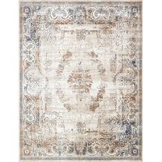 Found it at Wayfair - Chateau Blue/Cream Area Rug