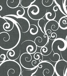 Quilter's Showcase Cotton Fabric-Scrolling Gray & White