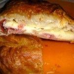 Torta rustica con prosciutto e mozzarella