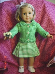 Doll clothes/Skirt/Sweater Set /Fits American Girl Doll