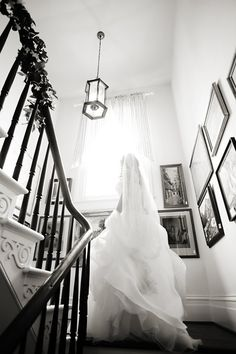 DeMuth-Eggleston Wedding Photo By Visions by Heather Wedding stairway shot
