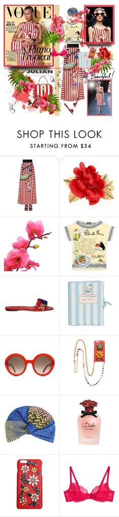 """""""Ysaunny Brito Vogue Mexico 2016"""" by merrygorounds ❤ liked on Polyvore featuring Dolce&Gabbana, Oscar de la Renta, Olympia Le-Tan, Alexander McQueen, Missoni Mare, L'Agent By Agent Provocateur, polyvorecommunity, Julian, polyvoreeditorial and oversizedflorals"""