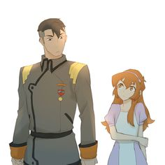 Shiro and Pidge (Katie Holt) from Voltron Legendary Defender