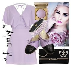 """""""If only"""" by dmg555 ❤ liked on Polyvore featuring River Island, Jimmy Choo, Stila, New Directions, Chanel and Hermès"""