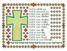 Celtic Prayer Cross - cross stitch pattern designed by Muffy. Category: Religious.