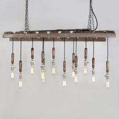 Salvaged Pallet Chandelier - would look awesome over the kitchen island.