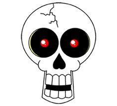 Cartoon Drawing of a Skull: I think this would be a fun applique too.