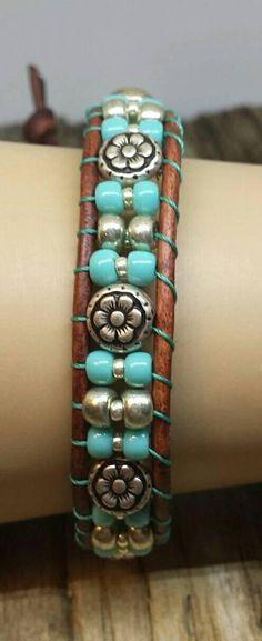 13c769c309 LEATHER BRACELET wrap bracelet leather wrap bracelet bead Leather Earrings
