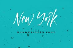 New York Handwritten Font by Vera Holera on @creativemarket
