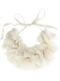 diy idea:  ribbon necklace knotted with chiffon, ribbons, fabric, ect!  (or pom-pom flowers glued to each side!)