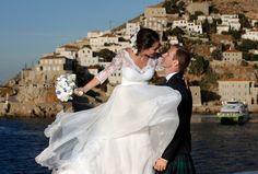 Wedding Photography in Hydra Island in Greece by Panagiotis Kounoupas Greece Wedding, Greece Islands, Destination Wedding, Wedding Photography, Weddings, Wedding Dresses, Fashion, Bride Dresses, Moda