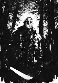 Comics Forever, Jason Voorhees // artwork by HenrikJonsson Jason Friday, Friday The 13th, Scary Movies, Horror Movies, Horror Villains, Jason Viernes 13, Jason Voorhees Drawing, Scary Coloring Pages, Slasher Movies