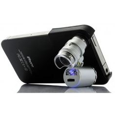 Good god. Miniature microscope for your IPhone.