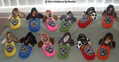 Please note that this pattern includes all 6 Paw Patrol Slipper designs. You need to know the Front and Back post double crochet for these slippers, they are quite easy to make and involve some sewing. Crochet Hook Set, Crochet Baby Hats, Crochet Gifts, Crochet For Kids, Kids Slippers, Crochet Slippers, Crochet Christmas Cozy, Paw Patrol Christmas, Crochet Bikini Bottoms