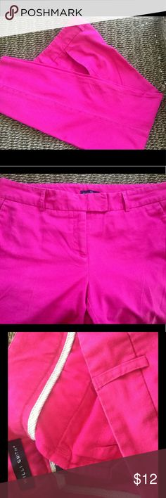 """WILLI SMITH SZ 8 PINK CAPRIS 💕EUC 26"""" inseam. Zipper front. Side pockets. Great condition. Willi Smith Pants Capris"""
