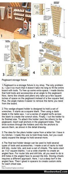 Pegboard storage fixture